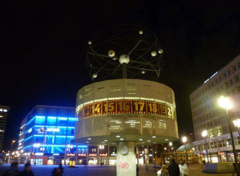 Alexanderplatz wereldklok Berlijn