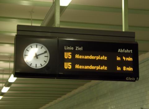 U-Bahn (Metro) Openbaar Vervoer Berlijn